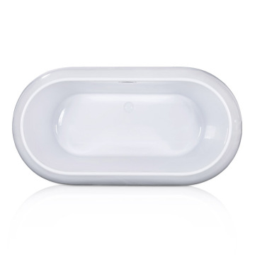 Soho Center Drain Soaking Tub with Narrow Edge