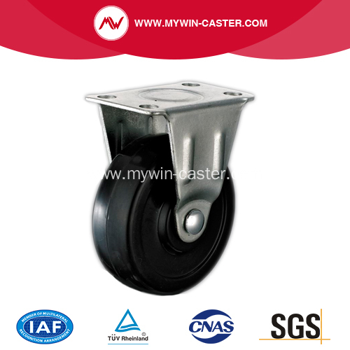 1'' Black Rubber Light Duty Industrial Caster