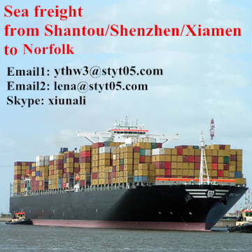 Sea freight services from Shantou to Norfolk