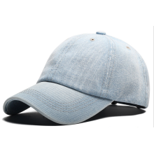 Denim Heavy Washing Man Women Plain Cap