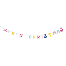 Customized for Christmas Garland Christmas colourful bunting banner export to Spain Manufacturers