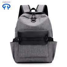 New waterproof nylon backpack USB charging bag