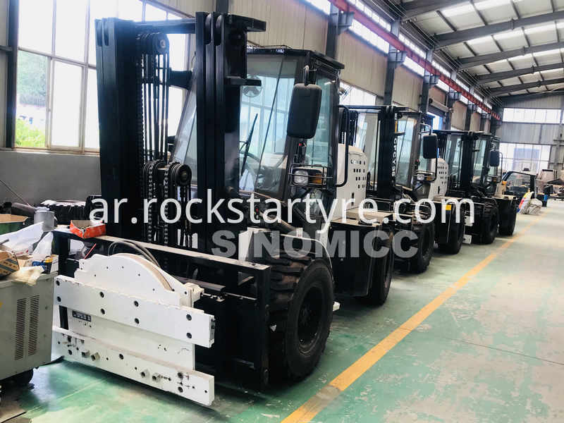 Rough Terrain Forklift Cpcy35 With Rotating Disc