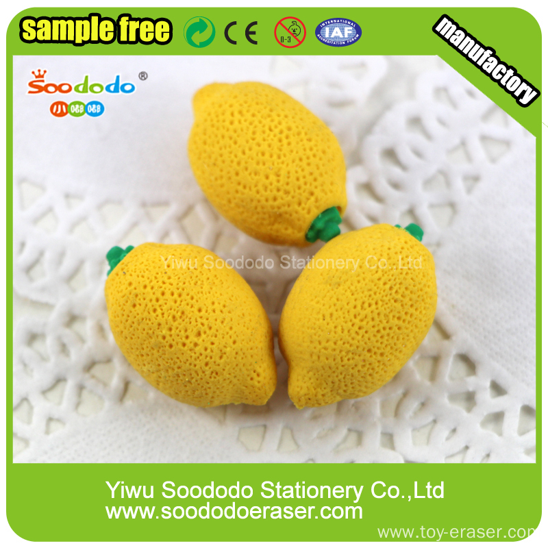 lemon eraser fancy design as stationery