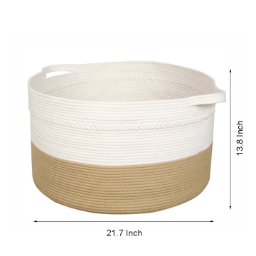 Durable Using Low Price Basket Round Jute Rope Small Storage Baskets Organizer