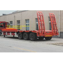 China New Product for Skeleton Semi Trailer Low Bed Semi Truck Trailer  80T supply to Lesotho Factories