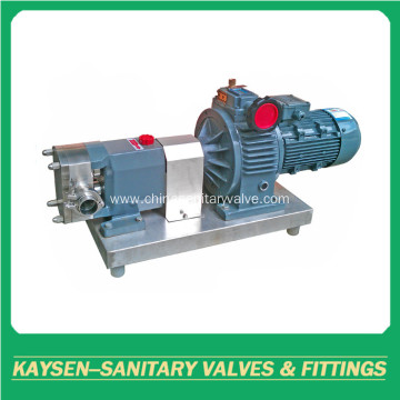 Sanitary stainless steel rotor lobe pumps