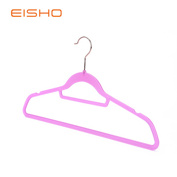 Wholesale Semi-clear Plastic Clothes Hangers PV001-45