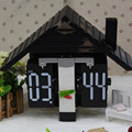 Wooden House Flip Clock for Decor
