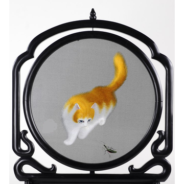Hand Embroidered Artwork - Kitty