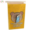 Colorful stand up popcorn paper bag