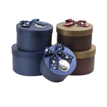 Good Design Round Box with Silk Ribbon