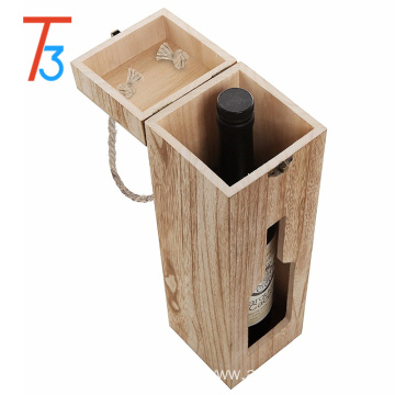 Promotional handmade double bottle paulownia wooden wine box
