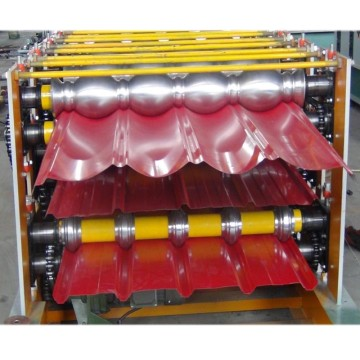 Three Layer Roofing Tile Roll Forming Machine