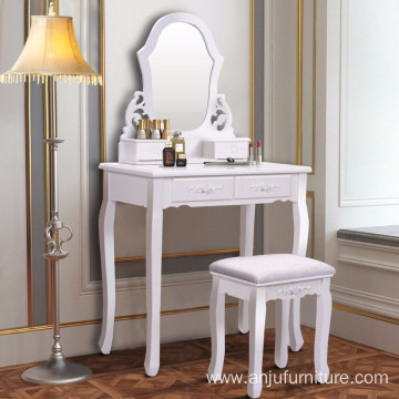Cheap PriceList for Dressing Table Bedroom Dubai Home Mirror Furniture Dressing Table supply to Djibouti Wholesale
