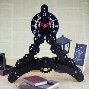 Eiffel Tower Gear Clock For Decor