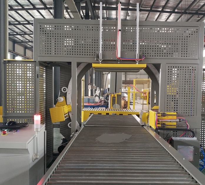 Horizantal wrapping machine for cupbord