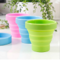 Heat resistant Portable Food grade silicone collapsible cup