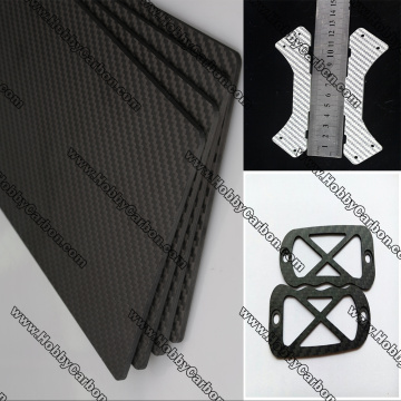 carbon glass sheets guitar accessories DIY cutting