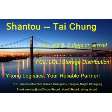 Shantou Sea Freight to Taichung