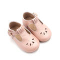 Delicate Hollow On T-Bar Mary Jane Baby Shoes