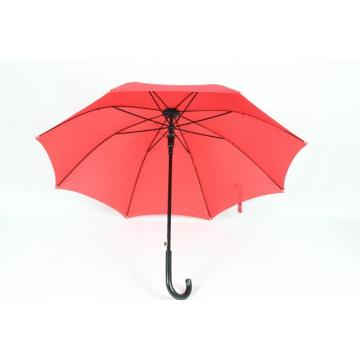 Red Long straight umbrella Wholesale UV Protection