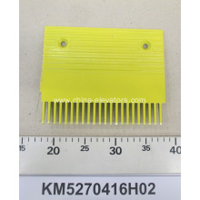 Yellow Aluminum Comb for KONE Escalators KM5270416H02