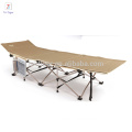 High quality iron bed with pillow Lightweight Folding Camp Cot/folding camping bed