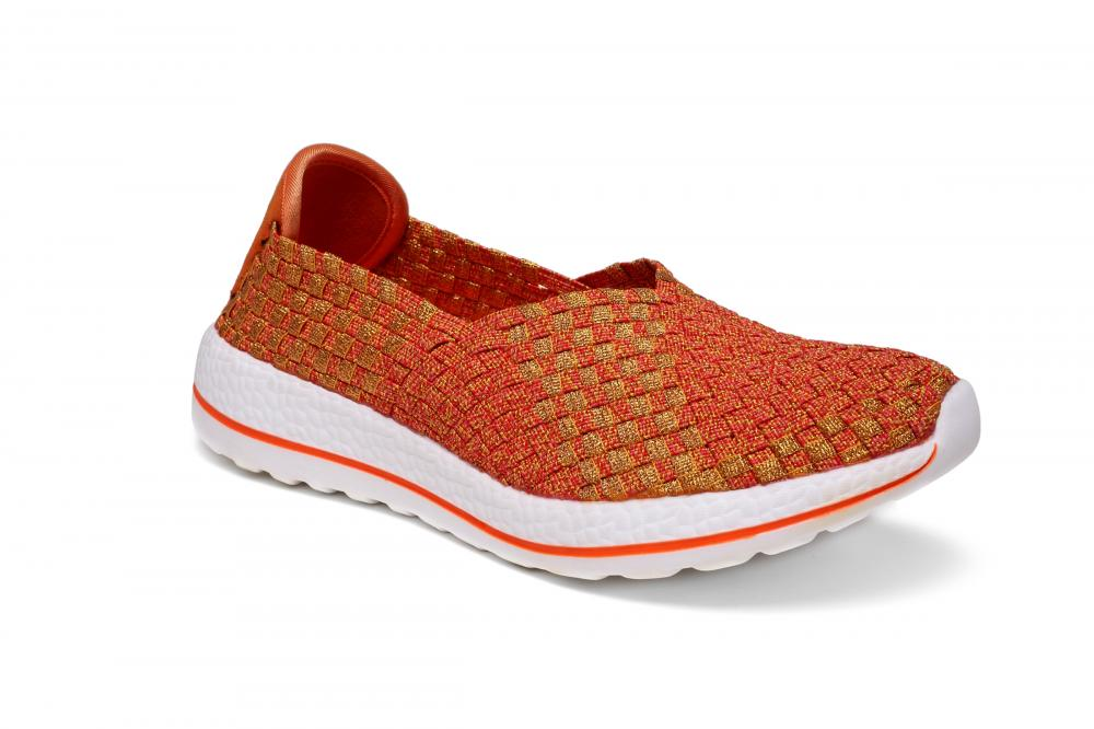 Soft Woven Fabric Upper Slip-ons