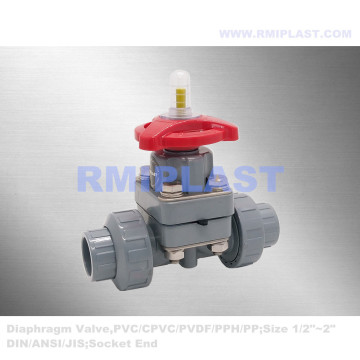PPH Diaphragm Valve Union Type PN10