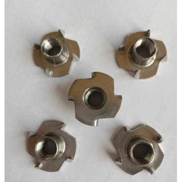 Stainless steel T nuts with prongs