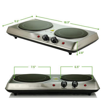 Electric Infrared Burner Double-Plate Ceramic Glass Cooktop