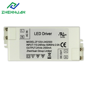 Factory Price for Constant Voltage Led Driver 24v led light driver transformer 60w supply to Singapore Factories