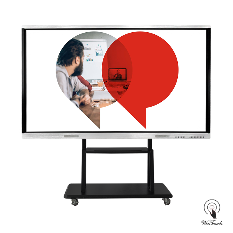 86 Inches AI Touch Panel With Mobile Stand