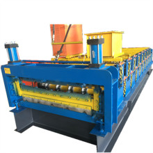 Double deck metal roof tile forming machine