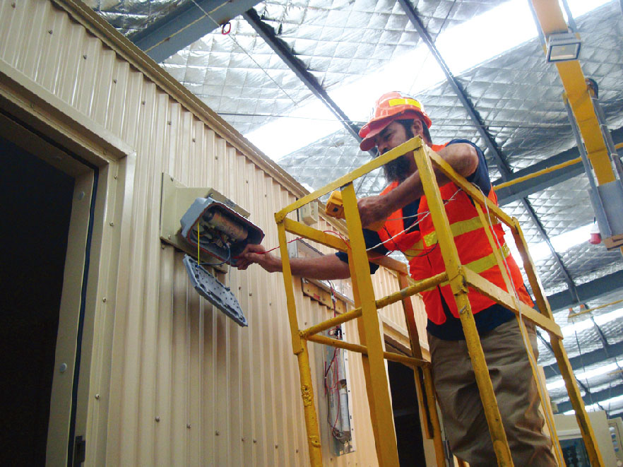 electrical test for Modular Accommodation Building Container Type