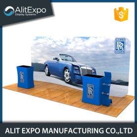 Folding photo advertising trade show stands display booth