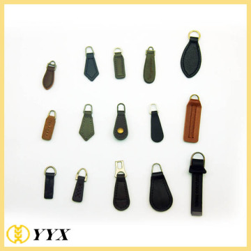 China Manufacturers for Customized Zipper Puller black brown debossed pu leather zipper puller supply to France Manufacturer