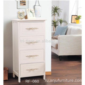 factory price bedroom furniture type wood 4 drawers stand beside table