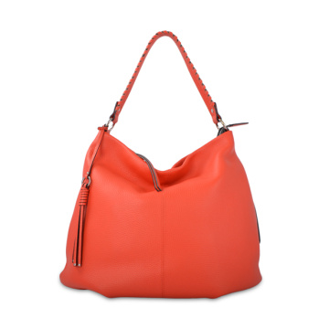 Cognac Leather Large Hobo Bag for Work Travel