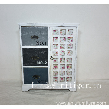 Multicolor Antique Wood Chest of Drawers Cabinet Factory Price