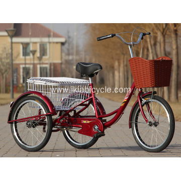 24 Inch Tricycle with Rear Steel Basket