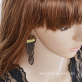 Personality Lace Earring For Women Retro Leaf Shape Earring