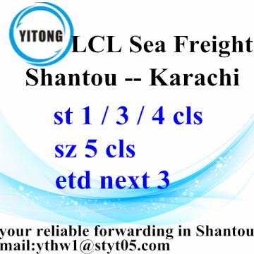 Cargo ocean freight services from Shantou to Karachi