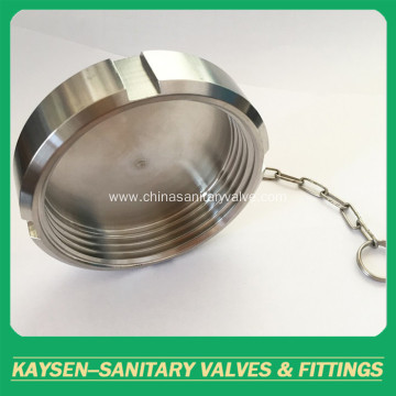 RJT Sanitary unions blind nut with chain
