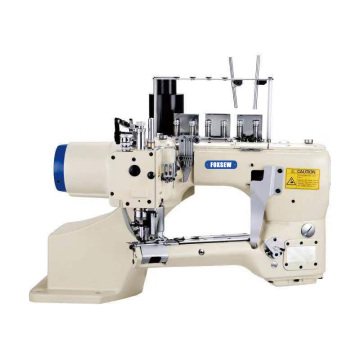 Direct drive 4-Needle 6-Thread Feed Off the Arm Flat interlock sewing Machine