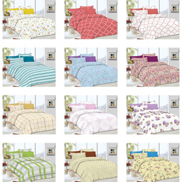 Prewashed Durable Quilted Plain Bedspread