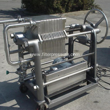 New Design Small Stainless Steel Filter press