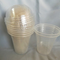 Transparent Plastic Clear Cup With Transparent Lid