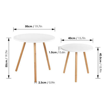 Nesting Coffee End Tables Modern Furniture Decor Round Side Table for Living Room Balcony Home and Office
